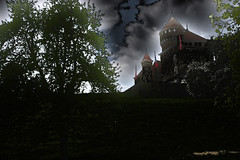 Dark castle (Olivier TONNOIR) Tags: sky castle dark conceptual