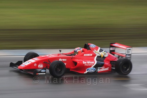 Frank Bird in British Formula Four during the BTCC Donington Weekend: 16th April 2016