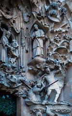 Above-the-door_DSC2955 (Mel Gray) Tags: barcelona church spain catholic basilica religion gaudi sagradafamilia religiousart religiousarchitecture