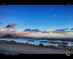Drive By (tomraven) Tags: sky cloud sun seagulls clouds island se moving rocks wellington islandbay iphone taputerangaisland tomraven aravenimage q22016