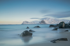 Myrland (fuerst) Tags: travel seascape beach norway rock strand landscape norge norwegen fels landschaft lofoten reise myrland