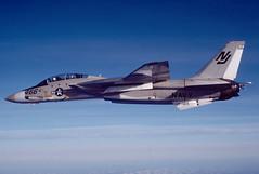 F-14A Tomcat 159605 of VF-124 NJ-466 (JimLeslie33) Tags: vf124 f14 tomcat miramar 159605 nj nj466 usn navy military fighter naval aviation f14a rag olympus om1 grumman fightertown gunfighters