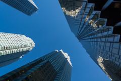 downtown (Karl-Heinz Bitter) Tags: blue sky toronto lines architecture mirror cityscape architektur spiegelung glas hochhaus downtwon linien skyscratcher khbitter karlheinzbitter