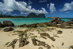 Beautiful Lord Howe Island (NettyA) Tags: beach water clouds boats coast sand rocks aqua clear coastal coastline day5 unescoworldheritage lordhoweisland thelagoon 2016 lhi mtgower mtlidgbird lordhoweforclimate