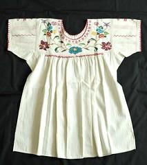 Mexico Oaxaca Zapotec Blouse Talea (Teyacapan) Tags: flowers mexico clothing textiles embroidered sierrajuarez oaxacan zapoteca talea mexicanblouses blusasmexicanas