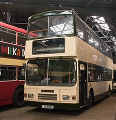 Far from the madder crowd (georgeupstairs) Tags: bus museum volvo edinburgh used alexander secondhand doubledecker olympian squarepeg 962 lothianbuses keighleybusmuseum l962msc