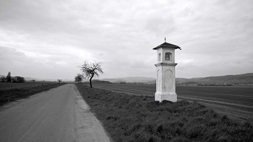 Roadside shirne B&W
