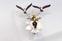 ESR BT (Jeddy and Daddy) Tags: lego eagle battle elf eagles ballista orcs greenskin armies legoideas highelf fantasyera castletheme skychariot castleera skyreamer