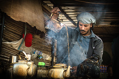Take a tea on the road (Chrif Benabid) Tags: road street morning travel food man breakfast algeria desert tea drink outdoor ngc streetphotography teapot seller biskra ambulant