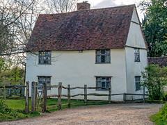 Willy Lotts house (rear view), Flatford, Suffolk, England. (Penfoel) Tags: england farmhouse fence suffolk path rustic constablecountry flatford leadedwindows willylott