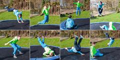 -trampolin collage (daniel kuhne) Tags: family collage pen tim outdoor trampoline tobi olympusep1