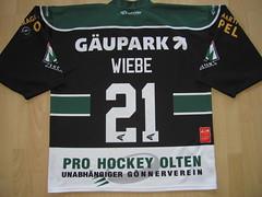 #21 Shayne WIEBE Game Worn Jersey (kirusgamewornjerseys) Tags: game ice hockey schweiz worn jersey shayne wiebe eishockey nla olten ehc