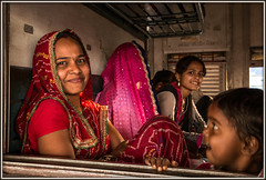 Days like these (david.hayes77) Tags: family people india festival train happy humanity mother happiness mg laughter passenger jaipur rajasthan 2016 metregauge