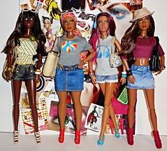 Goddess Fashionistas (Dia 777) Tags: dolls goddess barbie fashionistas blackbarbie redruffles blackdolls blackgoddesses barbiefashionistas goddessface curvyfashionista curvybarbie dia777 icecreamromper dolledupdenim