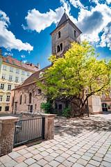 Wien Ruprechtskirche (Ralph Punkenhofer) Tags: vienna wien blue sky cloud church clouds nikon kirche himmel wolken 11 d750 20mm nikkor oldest f4 blauer wiens ruprecht jahrhundert lteste heiter ltreste