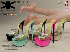 Loulou :: Shoes :: 10 Colors ({kokoia}) Tags: summer woman high shoes mesh sl heels loulou stiletto mule tmp maitreya slink secondlfie kokoia themeshproject