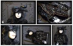 Girl-Crow Brooch (Professional Art Doll Maker) Tags: gothic brooch goth jewelry gothicjewelry handmadebrooch girlcrow crowjewelry worldofdollsanthrogon handmadejevelry anthrojewelry zlatasfantasydolls crowbrooch