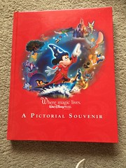 Walt Disney world pictorial souvenir book (Elysia in Wonderland) Tags: world red mouse book disney mickey souvenir fantasia walt pictorial sorcerer