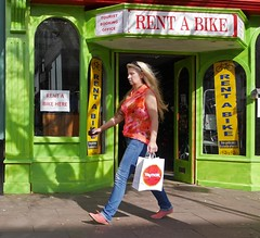 Rent a Blonde ? (ian con) Tags: girls streets women legs candid blondes jeans