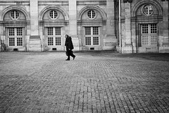 Leaving the Institut (mariefrance2010) Tags: people paris france streetphotography cobblestone