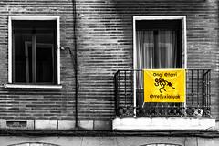 Ongi Etorri Errefuxiatuak, Refugees Welcome, Bilbo, Bizkaia, Euskal Herria (Basque Country). 2016.05.01 (Tx.rekords.EH.) Tags: blackandwhite blancoynegro ngc humanrights bizkaia euskalherria solidaridad bilbo basquecountry baskenland ander monocromtico gizaeskubideak derechoshumanos refugeeswelcome zuriaetabeltza txrekordseh andertxrekordseh ongietorrierrefuxiatuak refugiadosbienvenidos