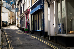Taking a break on St Andrew's Street, St Ives (thriddle) Tags: cornwall stives