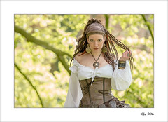 Elfia 2016 (Zino2009 (bob van den berg)) Tags: woman holland color green nature netherlands leather female standing pose spring eyes dress framed border picture fair fantasy pirate looks enchanted eff attraction fress tream bobvandenberg elfia zino2009