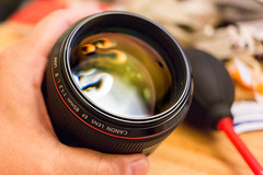 Take good care of your lenses, and they'll take care of you (Waleed Alzuhair) Tags: 85mmf12lii
