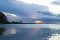 Dusk at Wellington Point (jadyn2014) Tags: sunset reflection clouds bay waterfront stormfront wellingtonpoint