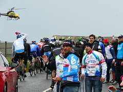 Any More For Any More? (mdavidford) Tags: sport race cycling waiting helicopter peer bushmills stage2 peloton giroditalia soigneur whiteparkroad garminsharp andronigioccattoli