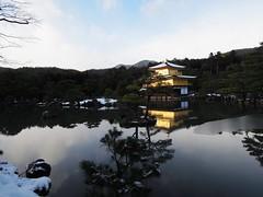 White and golden (gloriazaccariello) Tags: snow nature japan reflections golden kyoto culture pavilion 金閣寺 kinkakuji 京都市
