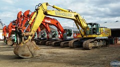 Excavators at Auction (Daily Diesel Dose) Tags: heavyequipment ok newholland
