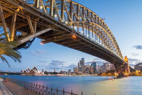 Sydney's iconic Harbour Bridge and Opera House