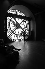 through the clock (minneinn) Tags: travel white black paris france europe gr ricoh ricohgr orsaymuseum girlonfilm