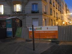 Une question sur le projet? (RubyGoes) Tags: road blue windows sky orange paris france green public french lights pavement balconies curtains vincennes projetdeville