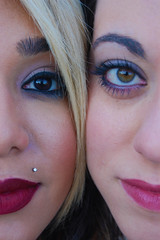 ebony and ivory (kellymckeefoos) Tags: winter friends snow cold nature beautiful outside eyes nikon women best hazeleyes browneyes