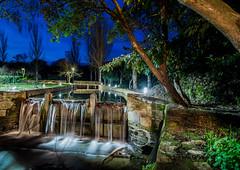 Arrullos del Canderuelo (noctuafoto) Tags: longexposure bridge tree water night ro reflections river puente arbol noche agua branches tokina nocturna angular cascade reflejos cascada ramas largaexposicin