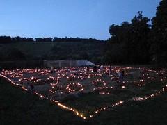 Illumination des pieux des fondations