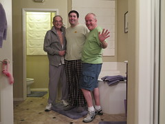 January 12, 2016 (205/365+4) (gaymay) Tags: california family gay portrait love bathroom happy monkey desert palmsprings triad towell