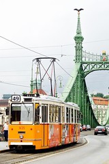 Liberty Bridge (XVilaboa) Tags: city bridge river puente hungary capital budapest danube buda pest hungra tranva