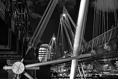 Iron and steel (Bendigoish) Tags: bridge london thames night golden iron steel jubilee waterloo