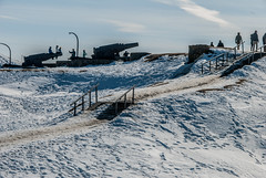 Cannons on Suomenlinna (LiveToday84) Tags: trip travel winter sea ice water island boat frozen helsinki north suomenlinna cannons d80