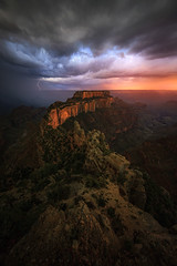 """Throne of Light"" (Mark Metternich) Tags: sunset arizona storm t tour north surreal grand canyon monsoon thunderstorm lightning lightening rim tours epic canyons throne thunderhead wotan wotans markmetternich markmetternichcom"