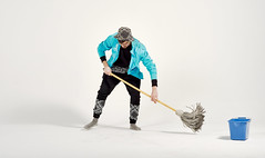 (StephenCaissiePhoto) Tags: blue mamiya hat socks studio bucket cove teal patterns cleaning indoors jacket swish paisley mop phaseone p30 captureone strobist