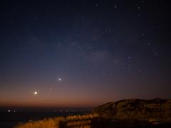 Moon Venus Mercury (ededededed) Tags: sunrise landscape hongkong outdoor astrophotography em5 olympusomd