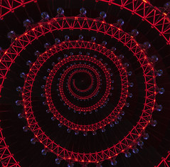 London Eye in a Spiral (ClaraDon) Tags: photoshop droste pixelbenfer