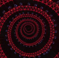 London Eye in a Spiral (ClaraDon) Tags: photoshop droste pixelbenfer