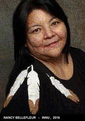 La photo-mosaïque de Nancy Bellefleur de Nutashkuan recomposé avec 3000 images des gilms de Wapikoni mobile !
