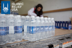 Islamic Relief USA distributed 36,000 bottles in one day