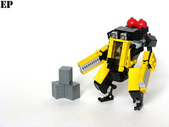 """MW-01 """"Crawdad"""" Worker Frame (ExclusivelyPlastic) Tags: robot construction lego scifi vehicle worker mecha mech"""